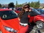Lili and cars
